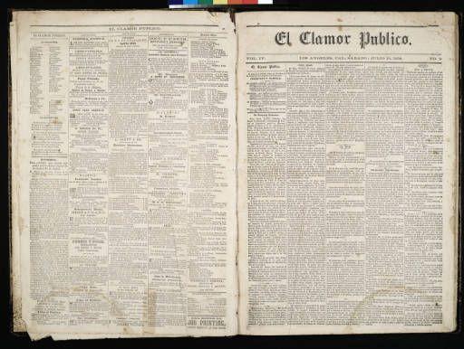 El Clamor Publico, vol. IV, no. 2, Julio 10 de 1858 :: El Clamor Publico Collection, 1855-1859