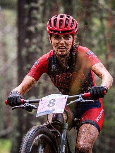 Pro mountain biker Kate Courtney posts super intense adventure photos on her Instagram.
