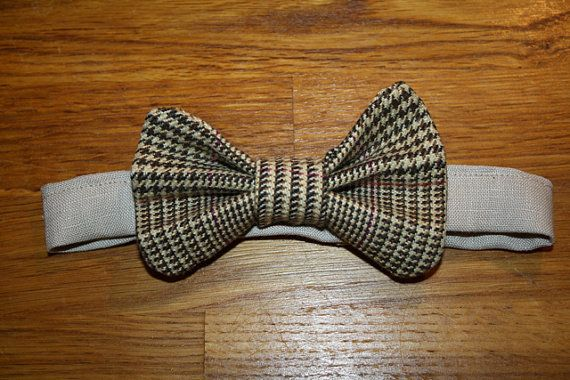 Children's Bow Tie in brown beige and black by jackandwilladesigns, $14.00