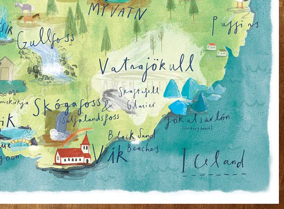Illustrated map of Iceland / A4/A3/A2 Print / Watercolour ... on poland map, mexico map, netherlands map, greece map, united kingdom map, cuba map, europe map, hungary map, scotland map, road map, germany map, japan map, india map, russia map, ireland map, italy map, keflavik airport map, spain map, scandinavia map, greenland map,