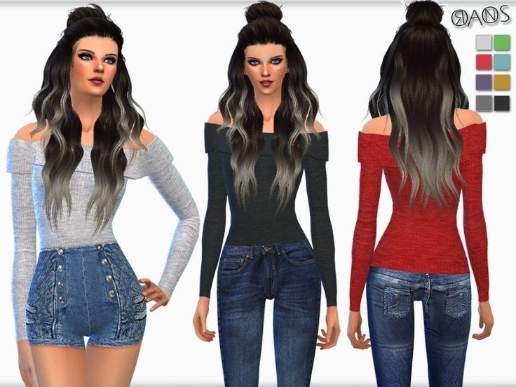 49 Best Sims 4 Female Tops Images On Pinterest Female