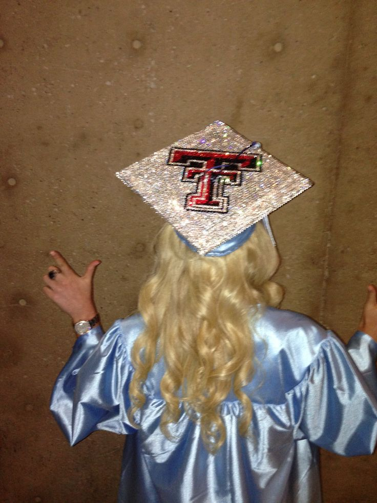high school graduation Texas Tech grad cap