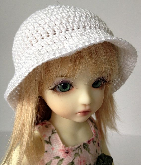 """BJD Bucket Hat for 6/7"""" head MSD Yosd - You choose colour on Etsy  4 New hat styles in my store!"""