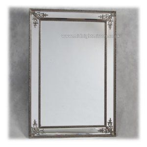 Silver French Style Frame Wall Mirror 192 x 134cm