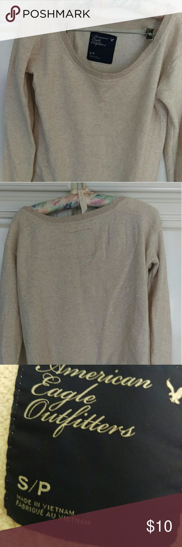 America Outfitters Women's Petite Small sweatshirt Cotton sweatshirt good shape petite small color cream American Eagle Outfitters Tops Sweatshirts & Hoodies