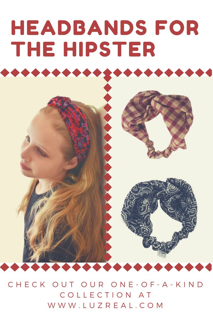 We offer unique, one-of-a-kind Hipster Headbands - check out our online store!