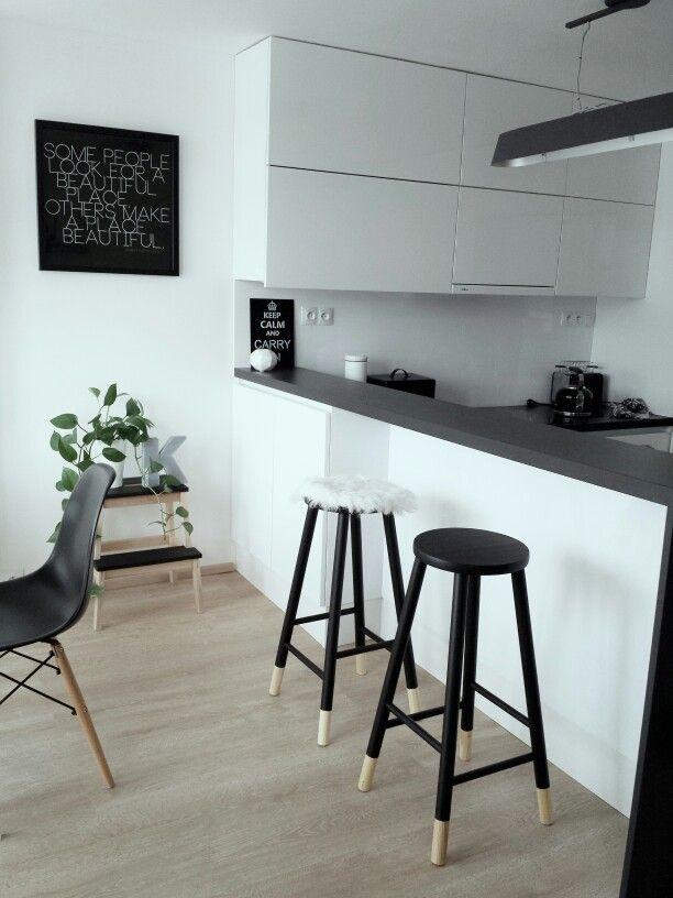 Scandinavian kitchen white simple
