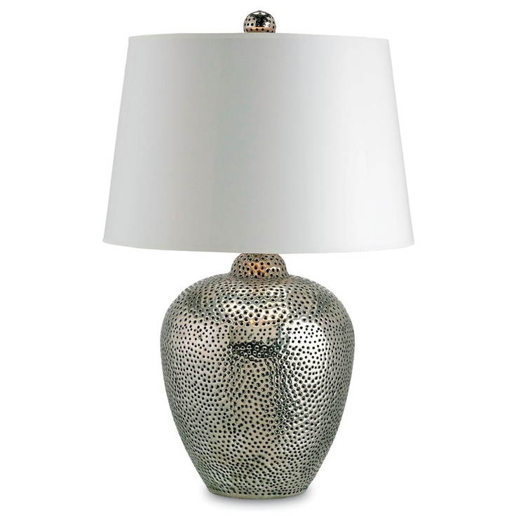 Delightful Pierced Metal Moroccan Table Lamp