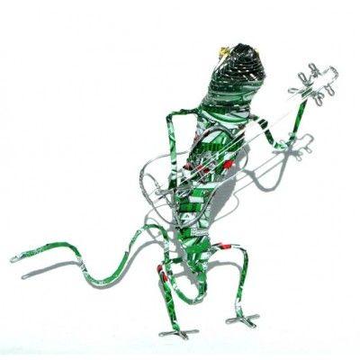 Tin Art Musician Gheko