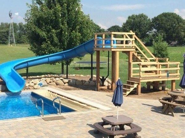 Swimming Pool With Slides Ideas 25 Fun Inspirations For You Yazlik Evler Koy Evi Villa