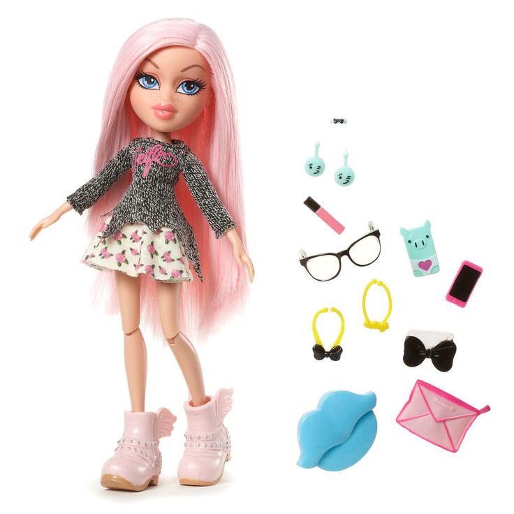 Introducing Bratz® #SelfieSnaps Collection, where the best-friends-for-life show off a new hair style and a selfie- worthy outfit in each of their own unique style. <br><br>Cloe can't wait to show off her new pale pink hair in a #SelfieSnap!<br><br>Doll Features: <br><ul><li>Cloe's #SelfieSnaps Style is soft and sweet, with her pale pink hair as the centerpiece</li><br><li>Outfit includes a gray knit selfie sweater with a floral skirt and angel wing boots in the same pale pink shade as h...