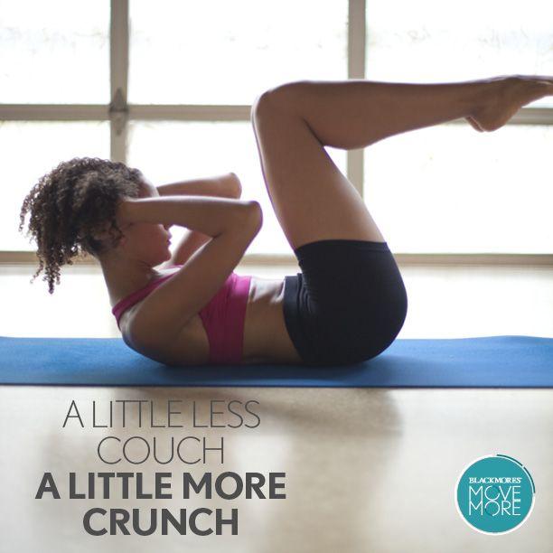 A little less couch, a little more crunch