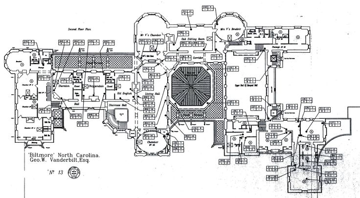 Biltmore Second Floor Plan With Lights Labeled Biltmore