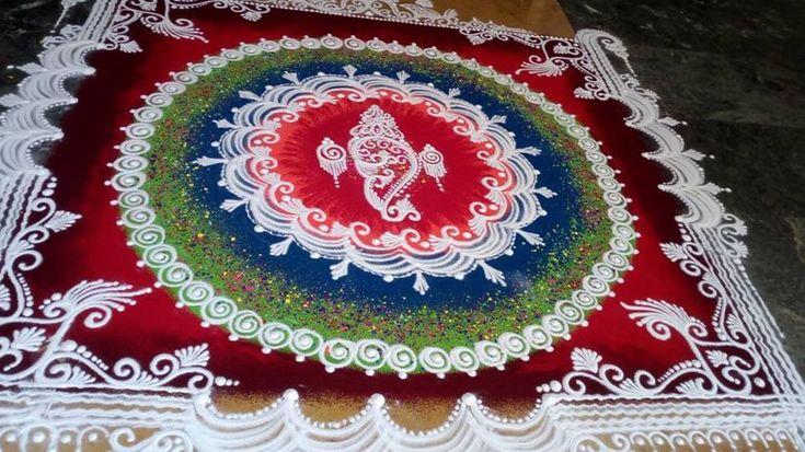 Sanskar Bharti Rangoli Designs