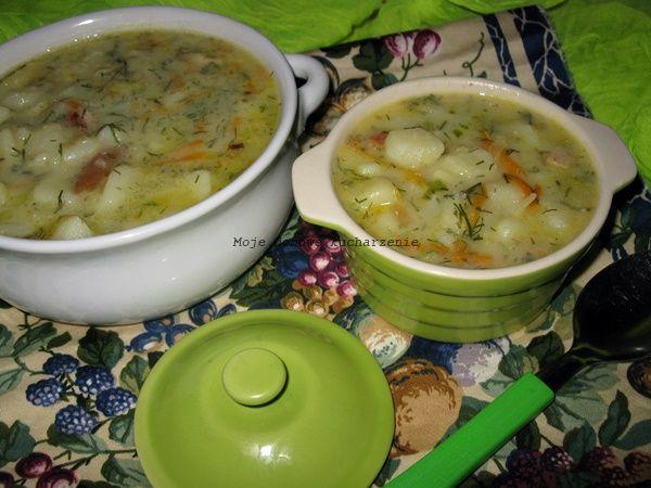 Moje domowe  kucharzenie: Zupa porowo-koperkowa