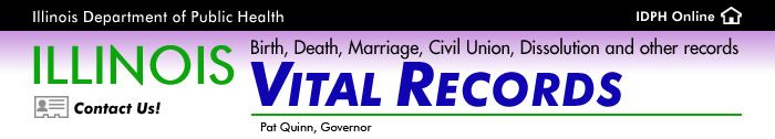 Illinois Vital Records - Birth, Death, Marriage, Civil Union, Dissolution and other records