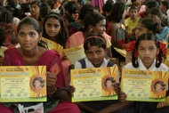 """More than 200 Indian girls whose names mean """"unwanted"""" in Hindi chose new names Saturday for a fresh start in life.    A central Indian district held a renaming ceremony it hopes will give the girls new dignity and help fight widespread gender discrimination that gives India a skewed gender ratio, with far more boys than girls."""
