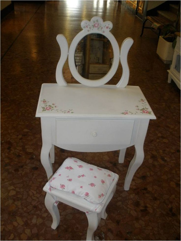 Dressoire tocador para ni a pintado con flores mini - Muebles para cuarto de nina ...