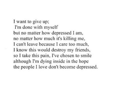 Best 25 poems about depression ideas on pinterest sad poems deep poetry and tumblr quotes deep - Plants you cant kill dont give up ...