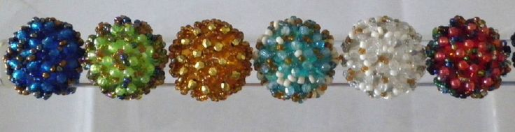 Bagues femme ronde tissée perles rocailles multicolores-élastique-neuve-écrin