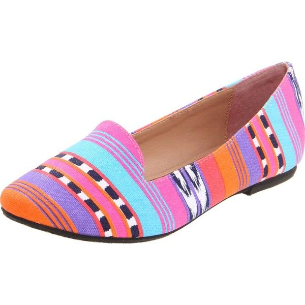 Betsey Johnson Women's Brritney Ballet Flat, Aztec Multi, 7 M US :... ($41) ❤ liked on Polyvore featuring shoes, flats, skimmer flats, ballet shoes flats, ballerina flat shoes, skimmer shoes and aztec shoes