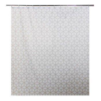 Rideau de douche en textile gris zingué n°1 l.180 x H.200 cm, Boomer SENSEA   Leroy Merlin