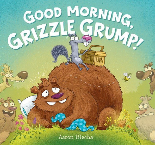 Hello all! I'm excited to announce that Grizzle Grump's new adventure will be sleepily shuffling to the book shelves on April 18th! Published by @harperchildrens  Book info from HarperCollins-  Winter is over! Spring has sprung! Grizzle Grump has just woken up from his long winter slumber. His big bear belly is quite rumbly. So he sets off with his trusty squirrel sidekick in search of a springtime snack.  He gathers berries but they go missing.  He catches fish but they disappear.  Grizzle…