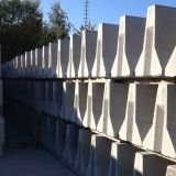 Concrete Jersey Barriers in stockyard