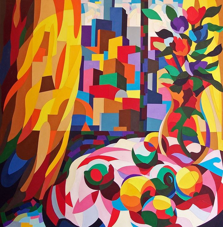 Large scale still life and cityscape produced using cut paper on canvas. Can be found at http://www.artgallery.co.uk/artist/stephen_conroy