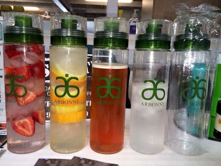 These water bottles are great! It's healthy all day every day with these, pop in your favourite fruit, ice and filtered water. Keeps you cool, hydrated and full of natural goodness. Or why not use one of Arbonne's Fizz Sticks?