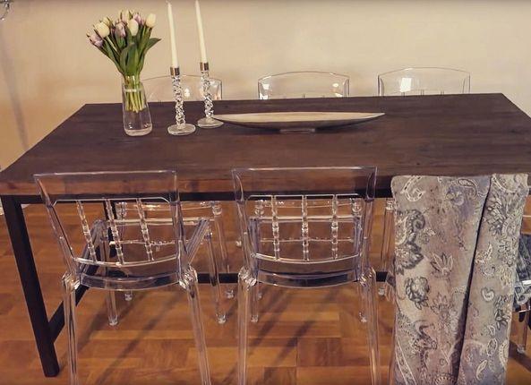 Transparent Boxern polykarbonatstol. Stol, polykarbonat, kök, matsal, plast, möbler, inredning.