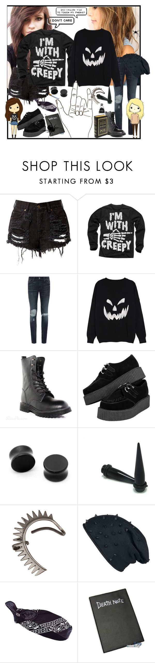 """""""(/;-;)/"""" by vivieizanangel ❤ liked on Polyvore featuring Denim & Supply by Ralph Lauren, Annelise Michelson and River Island"""