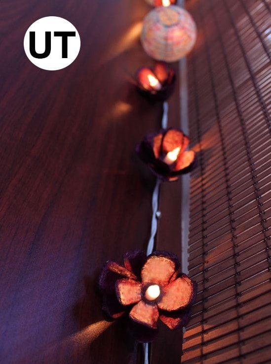 Egg carton floral lights