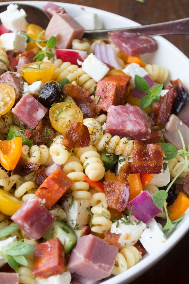 Healthy Dinner Salads Like This Meat Lover S Pasta Salad With 4 Diffe Kinds Of Are Filling And Gorgeous Ways To Eat