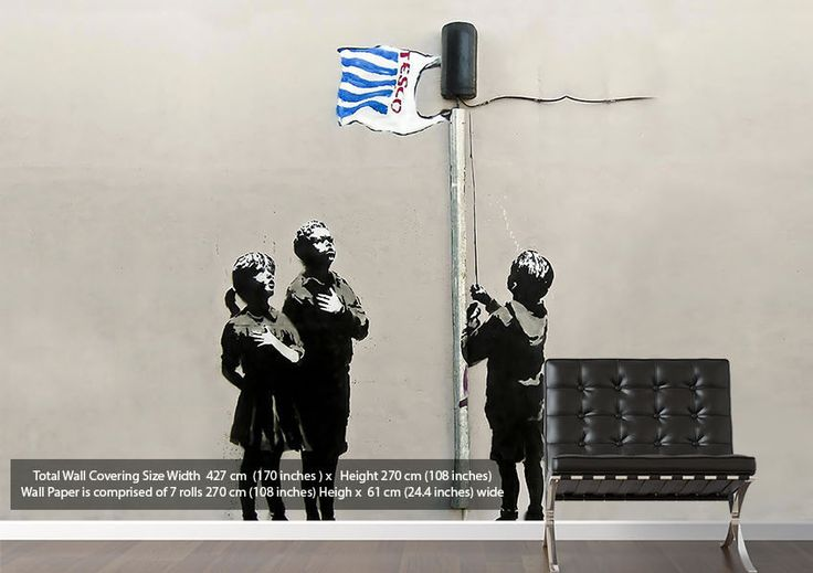 17 best images about banksy wall art on pinterest for Banksy mural wallpaper