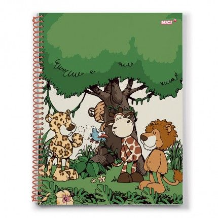 NICI Wild Friends A4 Checked Notepad