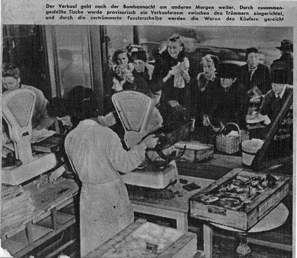 ration queue in Germany