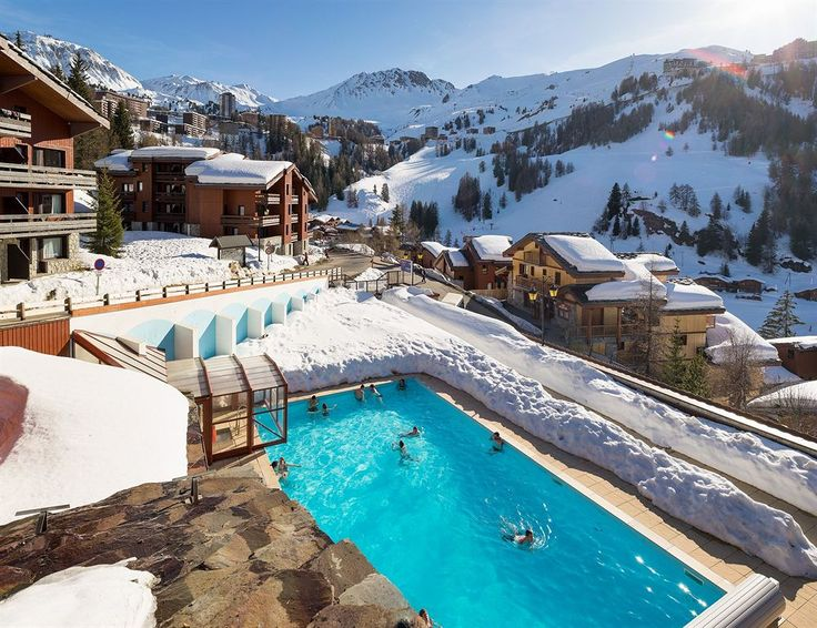 La Plagne, French Alps | Check out our top skiing destinations in France! http://www.healthyholidayguide.co.uk/top-3-skiing-destinations-france