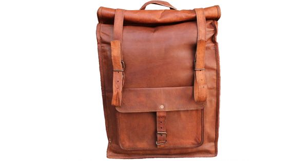 Extremely spacious and solid leather backpack made by hand from thick natural leather by the best craftsmen. Great companion both in daily running and short trips. The backpack is exceptionally practical, both in terms of size and functionality.  The backpack is exceptionally tall - measures over