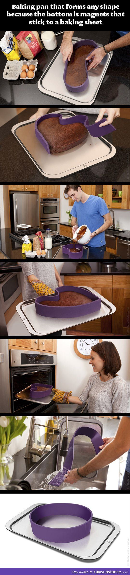 A baking pan with any shape