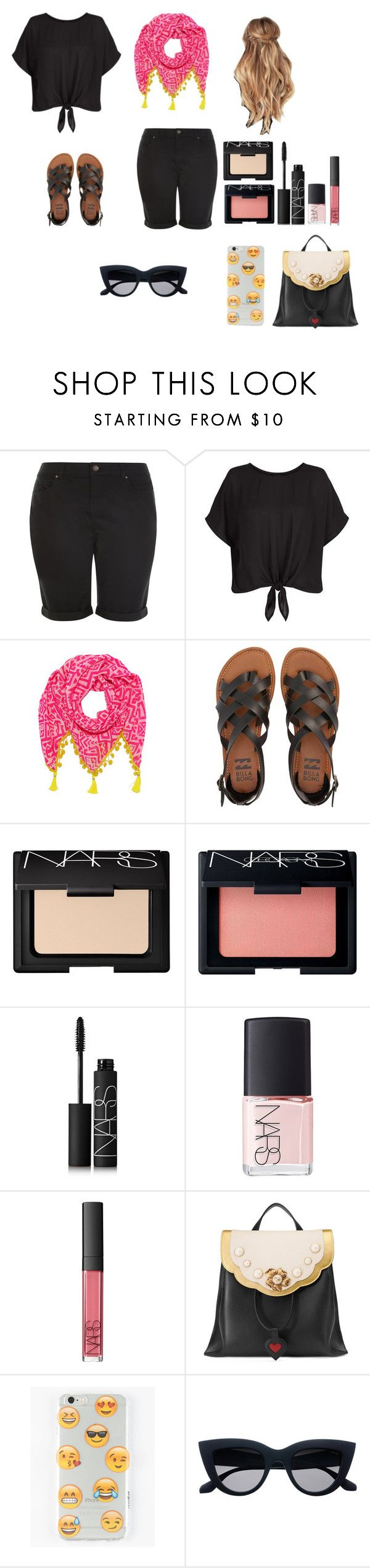 """Sunday Chillin"" by ittybittyrsunshine ❤ liked on Polyvore featuring New Look, Mercy Delta, Billabong, NARS Cosmetics, Gucci and Ankit"