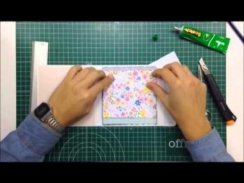 Cómo hacer y decorar un mini álbum para pocas fotos - TUTORIAL Scrapbook