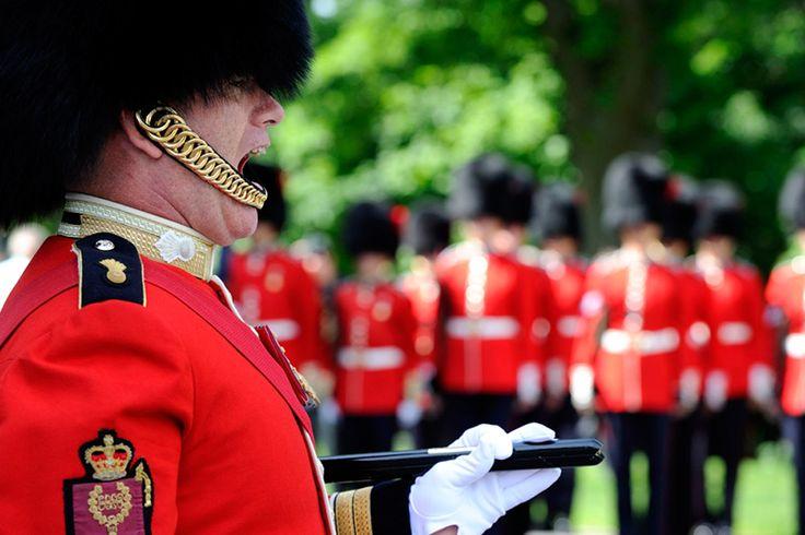 La Garde de cérémonie est composée de membres des FAC venant de l'Armée Canadienne, de l'Aviation Royale Canadienne et de la Marine Royale Canadienne