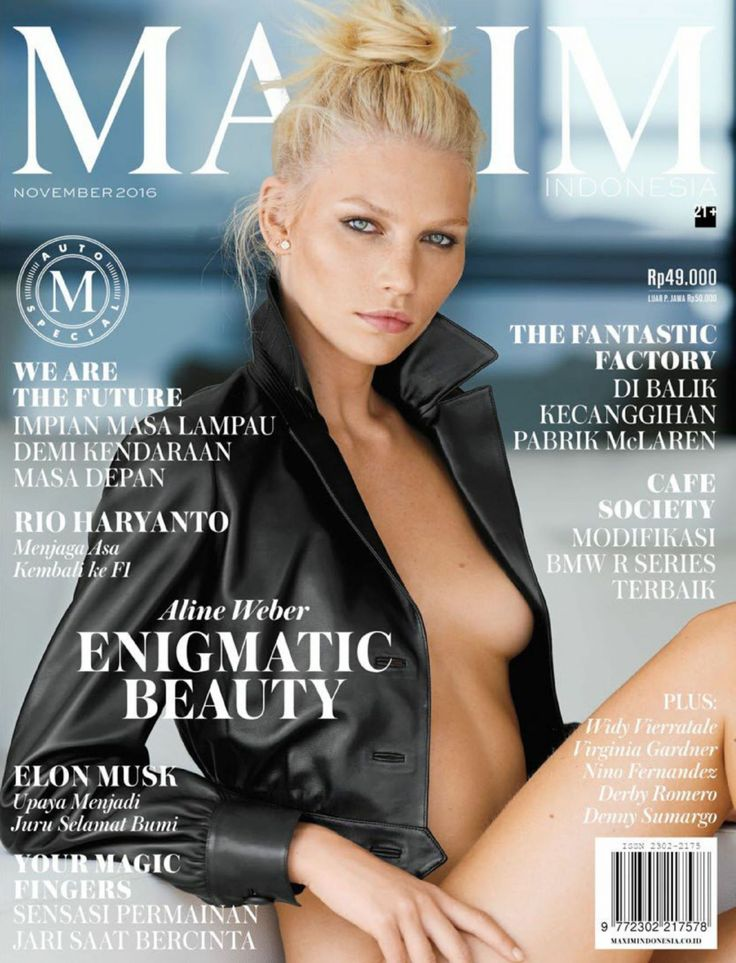 Aline Weber - Maxim Indonesia 2016/November