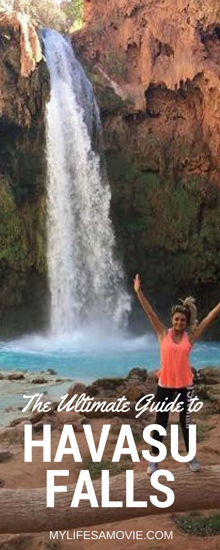 The Ultimate Guide to Havasu Falls in Arizona! All the info you need to plan a Day Hike to Havasu Falls, make a reservation for camping, and how to get to all of the waterfalls in the reservation that Havasu Falls is located in!
