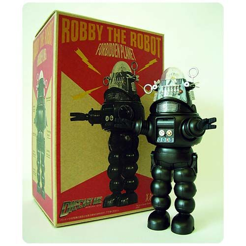 Robby the Robot Black and White Version Die-Cast Figure - X-Plus - Forbidden Planet - Action Figures at Entertainment Earth