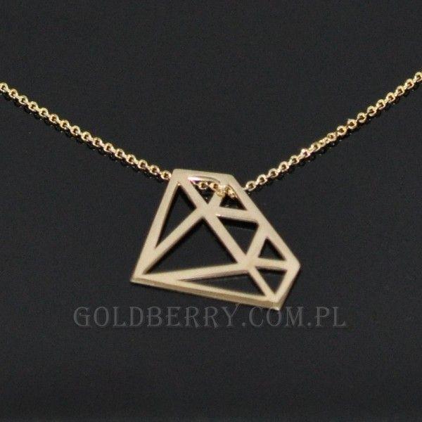 #Diament  #naszyjnik #złoty #goldberry