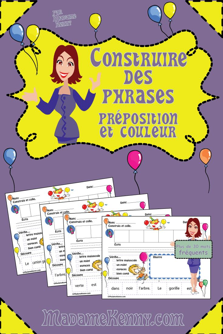Our newest product is a print and go product titled FRENCH Sentence Builder-Construire des phrases Préposition et coleur. This product is a fun way for your little learners to practice building French Christmas sentences. http://www.teacherspayteachers.com/Product/FRENCH-Sentence-Builder-Prepositions-and-Colors-Construire-des-phrases-1631103