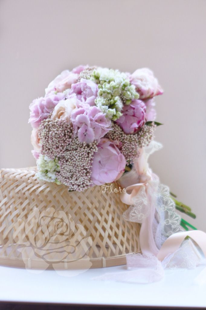 Зефирный свадебный букет