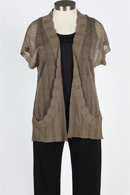 Fever - Short Sleeve Cardigan - Tanglewood